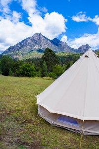 Sunshine Coast mountain wedding tent hire
