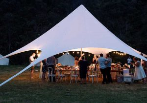 starshade hire marquee at event at night