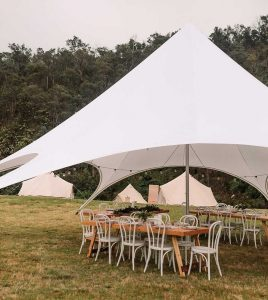 starshade event marquee hire with tables